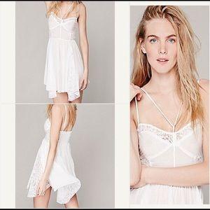 Free people white midi dress